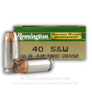 40 Cal Ammo For Sale - 180 gr JHP Remington Golden Saber Bonded Ammunition In Stock
