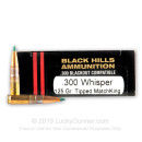 Premium 300 AAC Blackout Ammo For Sale - 125 Grain Sierra TMK Ammunition in Stock by Black Hills - 20 Rounds