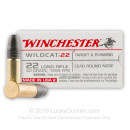 Cheap 22 LR Ammo For Sale - 40 gr Lead Round Nose - Winchester Wildcat - 500 Rounds