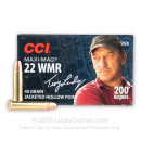 Cheap 22 WMR Ammo For Sale - 40 gr JHP - CCI Maxi Mag Ammunition In Stock - 50 Rounds