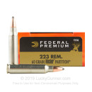 223 Rem Premium Rifle Ammo For Sale - 60 gr Nosler Partition - Federal Premium Ammo Online - 20 Rounds