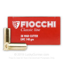 Cheap 38 Special Ammo For Sale - 148 gr LWC Fiocchi Ammunition In Stock - 50 Rounds