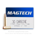 Cheap 30 Carbine - 110 grain full metal jacket Magtech Ammunition - 50 Rounds