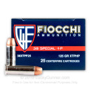 Cheap 38 Special Ammo For Sale - 125 Grain JHP Ammunition in Stock by Fiocchi - 25 Rounds