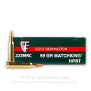 Bulk 223 Rem Ammo For Sale - 69 Grain Matchking HPBT Ammunition in Stock by Fiocchi Extrema - 200 Rounds