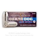 Cheap 45 ACP Federal Guard Dog Ammo - 165 gr Expanding Full Metal Jacket -  Federal Ammunition - 20 Rounds