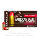 Bulk 45 ACP Ammo For Sale - 230 Grain Total Synthetic Jacket Ammunition in Stock by Federal Syntech - 500 Rounds