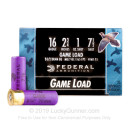 "Bulk 16 Ga Federal Ammo For Sale - 2-3/4"" #7.5 Federal Game Shok 16 Ga Shells - 250 Rounds"