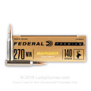 Premium 270 Ammo For Sale - 140 Grain Berger Hybrid Hunter Ammunition in Stock by Federal - 20 Rounds