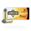 Bulk 44 Magnum Ammo For Sale - 240 Grain Lead SWC Cowboy Action Ammunition in Stock by Armscor USA - 400 Rounds