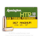 Cheap 357 Mag Ammo For Sale - 158 gr SP Remington High Terminal Performance Ammunition In Stock - 50 Rounds