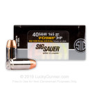 Premium Defensive 40 S&W Ammo For Sale - 165 gr JHP  - Sig Sauer V-Crown Ammunition In Stock - 20 Rounds