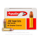 Bulk 22 LR Ammo For Sale - 40 Grain CPSP Ammunition in Stock by Aguila Super Extra - 5000 Rounds