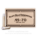 Premium 45-70 Ammo For Sale - 405 Grain LFP Ammunition in Stock by Black Hills Ammunition - 20 Rounds