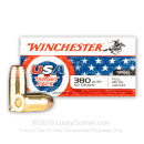 Cheap 380 Auto Ammo For Sale - 95 Grain FMJ Ammunition in Stock by Winchester USA Target Pack - 50 Rounds