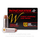 Cheap 38 Special Ammo For Sale - 130 gr JHP - Winchester Train & Defend Ammunition - 20 Rounds