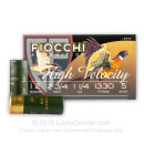 "Cheap 12 Gauge Ammo For Sale - 2-3/4"" 1-1/4 oz. HV #5 Shot Ammunition in Stock by Fiocchi - 25 Rounds"