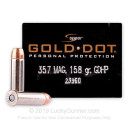 Premium 357 Magnum Defense Ammo For Sale - 158 gr JHP Speer Gold Dot Personal Defense Ammunition In Stock - 20 Rounds