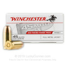 45 ACP Ammo - Winchester Range Pack 230gr FMJ - 600 Rounds