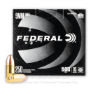 Cheap 9mm Ammo For Sale - 115 Grain FMJ Ammunition in Stock by Federal Black Pack - 250 Rounds