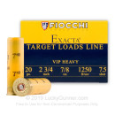 "Cheap 20 ga Shot Shells For Sale - 2-3/4"" 7/8 oz  #7-1/2 Shot by by Fiocchi - 25 Rounds"