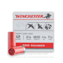 "12 Gauge 2 3/4"" #7.5 Heavy Game & Target Ammunition From Winchester USA - 100 Rounds"