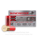 """Cheap 12 Gauge Ammo For Sale - 2-3/4"""" 1-1/8 oz. #4 Steel Shot Ammunition in Stock by Winchester Super-X Xpert HV - 25 Rounds"""