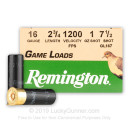 """Cheap 16 Gauge Ammo For Sale - 2-3/4"""" 1oz. #7.5 Shot Ammunition in Stock by Remington Game Loads - 250 Rounds"""