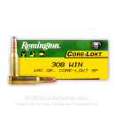 Bulk 308 Ammo For Sale - 180 gr PSP - Remington Core-Lokt Ammo Online - 200 Rounds
