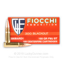 Bulk 300 AAC Blackout Ammo For Sale - 150 Grain FMJBT Ammunition in Stock by Fiocchi - 500 Rounds