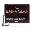 Premium 44 S&W Special - 200 gr JHP - Speer Gold Dot -  Ammunition - 20 Rounds