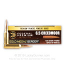 Premium 6.5mm Creedmoor Ammo For Sale - 130 Grain Hybrid OTM Ammunition in Stock by Federal Gold Medal Berger - 20 Rounds
