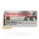 Cheap 22-250 Ammo For Sale - 64 gr PSP - Winchester Super-X Ammo Online - 20 Rounds