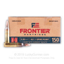 Cheap 5.56x45 Ammo For Sale - 62 Grain SP Ammunition in Stock by Hornady Frontier - 150 Rounds