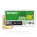 38 Special Ammo For Sale - 130 gr MC - Remington UMC Ammunition - 1000 Rounds
