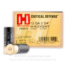 "12 ga Ammo For Sale - 2-3/4"" 00 Buck Critical Defense Ammunition by Hornady"