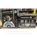 """Cheap 20 Gauge Ammo For Sale - 2-3/4"""" 3/4oz. #7.5 Shot Ammunition in Stock by Federal Upland Steel - 25 Rounds"""