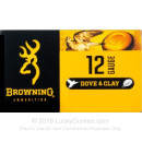 """Cheap 12 Gauge Ammo For Sale - 2-3/4"""" 1oz. #8 Shot Ammunition in Stock by Browning Dove & Clay - 25 Rounds"""