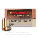 Premium 10mm Auto Ammo For Sale - 155 Grain TAC-XP Ammunition in Stock by Barnes VOR-TX - 20 Rounds