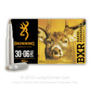 Premium 30-06 Ammo For Sale - 155 Grain Polymer Tipped Ammunition in Stock by Browning BXR - 20 Rounds