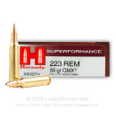 Premium 223 Rem Ammo For Sale - 55 Grain GMX Ammunition in Stock by Hornady Superformance - 20 Rounds