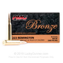 PMC 223 Rem Ammo For Sale - 5.56x45 Ammo - 55 gr FMJ BT