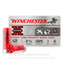 "Bulk 12 Gauge Ammo - 2-3/4"" Steel Shot Game Shot Shells - 1 oz - #6 - Winchester Super-X - 250 Rounds"