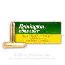Cheap 45-70 Govt. Ammo For Sale - 405 Grain Soft Point Ammunition in Stock by Remington Core-Lokt - 20 Rounds