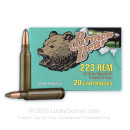.223 Rem Ammo For Sale - 62 gr SP Ammunition by Brown Bear In Stock - 20 Rounds