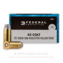 45 Long Colt  Ammo For Sale - 225 gr LSWCHP- Federal Champion Ammunition In Stock - 20 Rounds