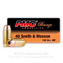 Bulk 40 S&W 165 gr JHP Defense Ammo For Sale -  PMC Ammo In Stock - 1000 Rounds
