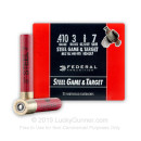 """Premium 410 Gauge Ammo For Sale - 3"""" 3/8 oz. #7 Shot Ammunition in Stock by Federal Steel Game & Target - 25 Rounds"""