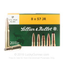8x57mm JR Ammo For Sale - 196 gr SP Ammunition In Stock by Sellier & Bellot - 20 Rounds