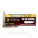 Premium 30-06 Ammo For Sale - 180 Grain Trophy Bonded Tip Ammunition in Stock by Federal Vital-Shok - 20 Rounds
